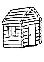 Cabin Clip Art 74 Log Coloring Page