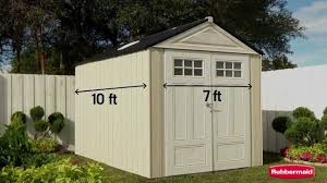 Rubbermaid 7x7 Gable Storage Shed by Rubbermaid Garden Sheds Home Depot Home Outdoor Decoration