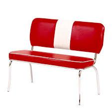 american diner sitzbank denver 31 rot weiß edelstahl poliert b h t ca 100x86x50cm