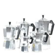 Italian Drip Coffee Maker Moka Alessi Espresso Cups Ml Manual Aluminum On