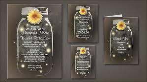 Rustic Vintage Mason Jar Invitations