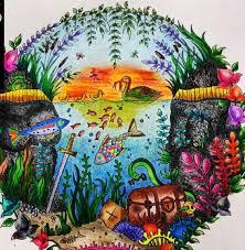Aquarium Enchanted Forest Aquario Floresta Encantada Johanna Basford BasfordColoring BooksAdult