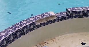 spa wall repair on a pool spa combo pool