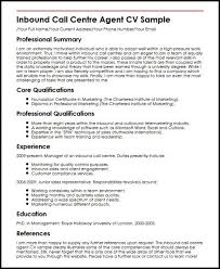 Call Centre Resume Sample Customer Inbound Cv Example Sales
