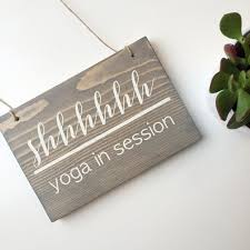 Reversible Yoga In Session Sign Storefront Studio Decor Open And Closed
