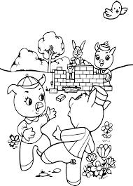 Coloriage 3 Petits Cochons à Imprimer Sur COLORIAGES Info