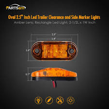 Amazon.com: Partsam 2x Trailer Truck Surface Mount LED Oval 2.5 ... Truck Led Lights 2 Inch Round Trailer Marker Install How To Youtube 9 33v 8led Amber Side Marker Lightclearance Lamp Ailertruck 2008 F150 Leds Strobe All Around Led And W Clear Lens 25 Side Lets See Them Chicken Dodge Cummins Diesel Forum Ram Clearance Inspiration New 2018 1500 Express Dorman Cab Roof Parking 5 Piece Kit For 212 2410x Round Light Indicator Lamp Car Bus Trucklite 8946a Oval Signalstat Replacement