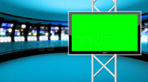 Broadcast Graphics TV Set Designs News Created Design NASA New Horizons Stock Video Virtual Studio Background Pond Global
