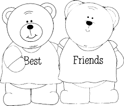 Awesome Friendship Coloring Pages 55 With Additional Free Book