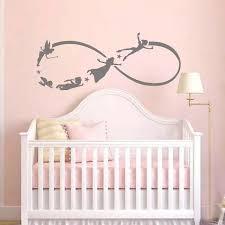 battoo pan wandtattoo kinder fliegen silhouette fantasie märchen infinity symbol nursery wandtattoos kinderzimmer aufkleber