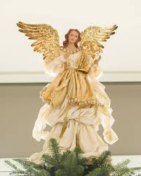 Gold Angel Tree Topper Main