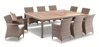 Sahara 10 Seater Outdoor PE Wicker Dining Table & Chair Set