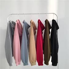 ItGirl Shop SEVEN COLORS OVERSIZED FRONT POCKET LONG SLEEVE HOODIE Aesthetic Apparel Tumblr Clothes