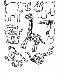 Jungle Animal Coloring Pages For Kids 8