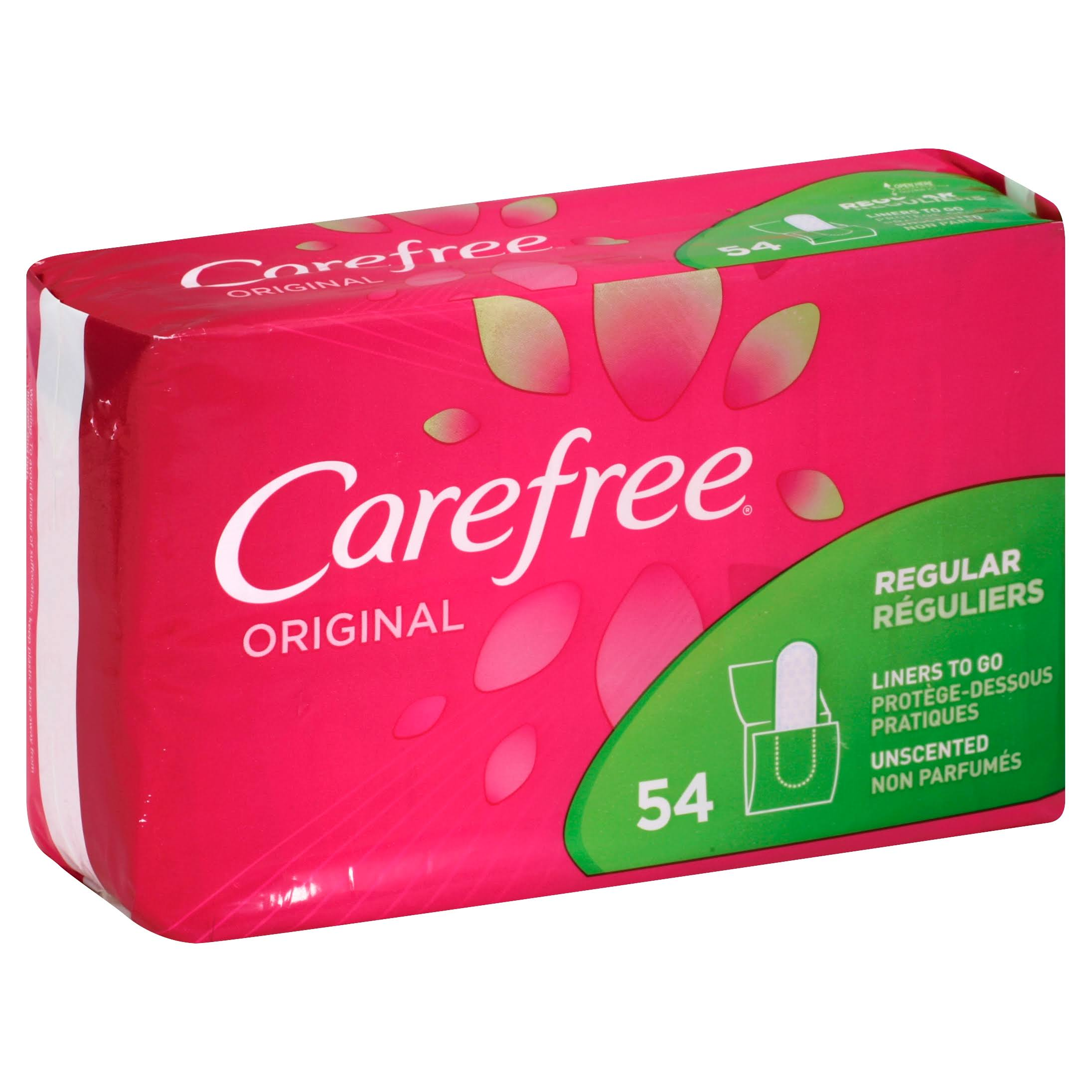 Carefree Original Unscented Regular Pantiliners - 54pk