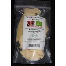 beurre de cacao cru bio 200 g pj natura speeduline