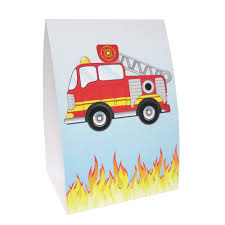 Fire Truck Mini Centerpieces - 6in (3 Pack) | Discount Party Supplies