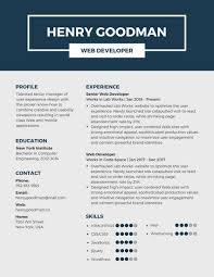 Dark Blue Professional Resume