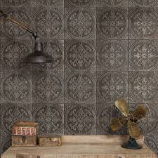 somertile 13x13 inch cantabria nero ceramic floor and wall tile