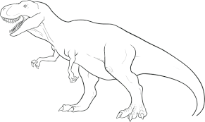Coloring Pages Free Printable Dinosaur And