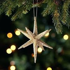 Golden Star Tree Topper Ornament Designs Old Gold Set Of