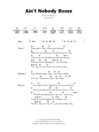 Ain t Nobody Home by B B King Guitar Chords Lyrics Guitar