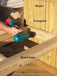 Wood Bench Designs Decks by Built In Deck Planters Planters Freestanding Decks How