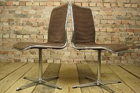 70er chrom drehstuhl schreibtisch stuhl esszimmerstuhl