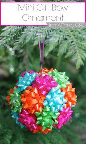 Mini Gift Bow Ornament