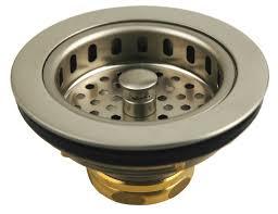 Kohler Sink Strainer Basket by Solid Brass Duo Basket Strainer For Kitchen Sinks Satin Nickel