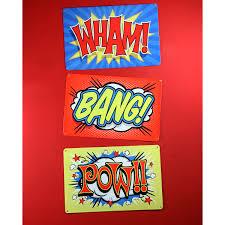 Vintage Superhero Wall Decor by Wham Superhero Sound Effect Metal Sign Kids Bedroom Decor
