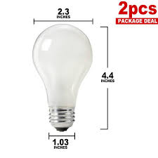 philips 60w 120v a shape a19 frosted incandescent 2 bulbs pack