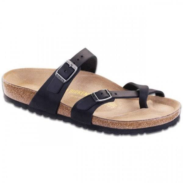 Birkenstock Women's Mayari Leather Thong Sandal - Black, 7.5 US