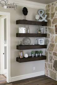 How To Build Simple Floating Shelves Shanty 2 Chic Decorate Living Room