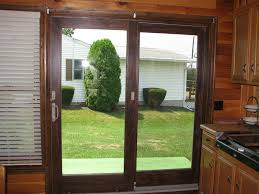 The Andersen Perma Shield sliding patio door has a rigid vinyl