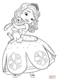 Sofia The First Coloring Pages And Clover Page Free Printable Book