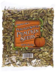 Roasted Hulled Pumpkin Seeds by Amazon Com Trader Joe U0027s Pumpkin Spiced Pumpkin Seeds 8oz