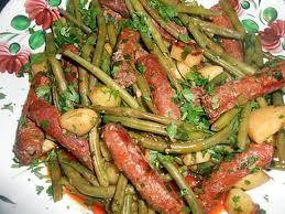 recette de haricots vert aux merguez