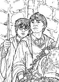Ron With Harry Potter Coloring Pages