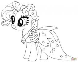 Rarity Pony Coloring Page Free Printable Pages Pertaining