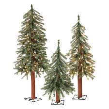 Vickerman Pre Lit Flocked Christmas Tree by Set Of 3 Alpine Trees Artificial Flora Compare Prices At Nextag