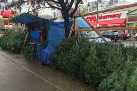 A Christmas Tree Stand At The Intersection Of Dyckman Street And Post Avenue Where