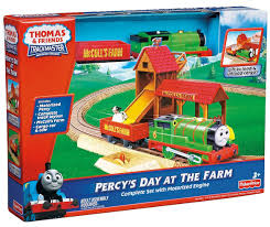 Thomas And Friends Tidmouth Sheds Trackmaster by Image Trackmaster Fisher Price Percy U0027sdayatthefarmbox Jpg