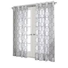 design decor 84 in white polyester grommet light filtering sheer