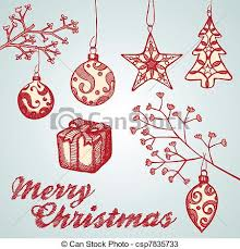 Christmas Ornament Sketches Vector