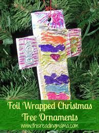 Foil Wrapped Christmas Tree Ornaments