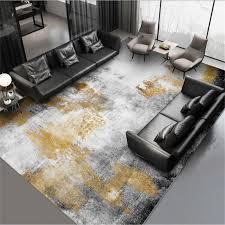 großhandel teppiche für wohnzimmer abstrakte schwarz grau gold ink muster teppich schlafzimmer teppich weihnachten teppich grau modern home decor