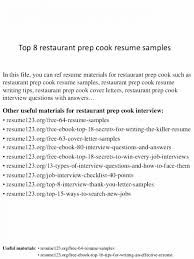 Line Cook Sample Resume Format For Chef Awesome Prep Objective Example Cooks Infinite Meanwhile Theglacierweb