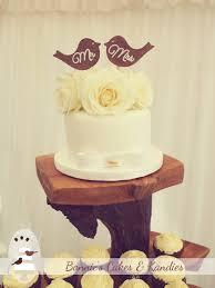 Romantic Rustic Love Bird Wedding Cake Gympie