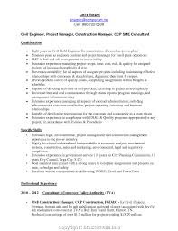 Top Civil Project Manager Resume Sample For Experienced Engineer Format Mechanical Engineering Electrical Construction Stock